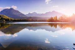 Pleso Strbske λιμνών στο υψηλό βουνό Tatras, Σλοβακία Ευρώπη Στοκ φωτογραφία με δικαίωμα ελεύθερης χρήσης