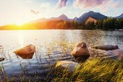 Pleso Strbske λιμνών στο υψηλό βουνό Tatras, Σλοβακία, Ευρώπη Στοκ φωτογραφία με δικαίωμα ελεύθερης χρήσης