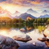 Pleso Strbske λιμνών στο υψηλό βουνό Tatras, Σλοβακία, Ευρώπη Στοκ Εικόνες