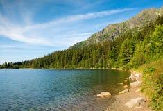 Pleso Strbske λιμνών, υψηλό Tatras, Σλοβακία Στοκ φωτογραφία με δικαίωμα ελεύθερης χρήσης