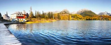 Pleso Strbske λιμνών, υψηλό Tatras, Σλοβακία Στοκ εικόνες με δικαίωμα ελεύθερης χρήσης