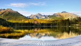 Pleso Strbske λιμνών, υψηλό Tatras, Σλοβακία Στοκ εικόνα με δικαίωμα ελεύθερης χρήσης