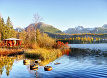 Pleso Strbske λιμνών, υψηλό Tatras, Σλοβακία Στοκ Εικόνες