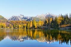 Pleso Strbske λιμνών, υψηλό Tatras, Σλοβακία Στοκ Φωτογραφία