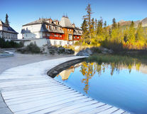 Pleso Strbske λιμνών, υψηλό Tatras, Σλοβακία Στοκ Φωτογραφίες