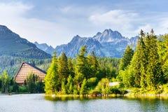Pleso Strbske λιμνών στο υψηλό βουνό Tatras, Σλοβακία Στοκ Φωτογραφίες