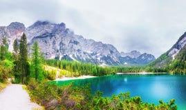 Pleso Strbske λιμνών στο υψηλό βουνό Tatras, Σλοβακία Στοκ φωτογραφία με δικαίωμα ελεύθερης χρήσης