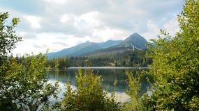 Pleso Strbske σε υψηλό Tatras Στοκ εικόνες με δικαίωμα ελεύθερης χρήσης