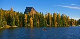 Pleso Strbske, υψηλό Tatras Στοκ Εικόνες