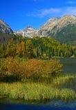 Pleso van Strbske, Hoge Tatras Stock Fotografie