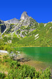 Pleso Zelene λιμνών βουνών στο εθνικό πάρκο υψηλό Tatra Σλοβακία, Ευρώπη Στοκ Εικόνες