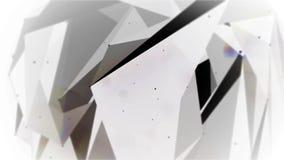 Plesso commovente astratto con i punti ed i poligoni che si muovono in uno spazio 3d video d archivio