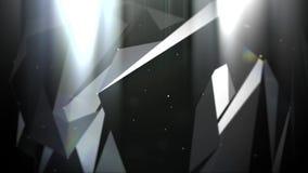 Plesso commovente astratto con i punti ed i poligoni che si muovono in uno spazio 3d stock footage
