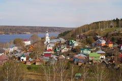 Plesstad op de Volga rivier Stock Fotografie