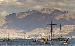 Plesure yacht near Eilat, Israel Stock Image