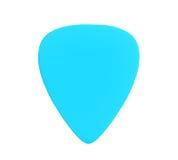 Plettro di plastica blu della chitarra immagini stock libere da diritti