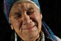 Pleurant, femme âgée, Photos stock