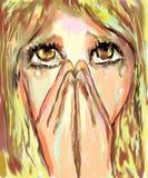 Pleurer Image libre de droits