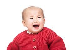 Pleurer asiatique de bébé photo libre de droits