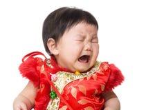 Pleurer chinois de fille photographie stock