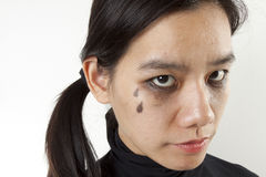 Pleurer composent Photographie stock libre de droits