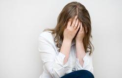 Pleurer déprimé de femme photo libre de droits