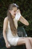 Pleurer déprimé de mariée Images libres de droits