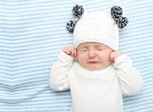 Pleurer de bébé photographie stock libre de droits