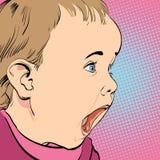 Pleurer de bébé de bande dessinée Image stock