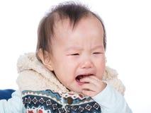 Pleurer de bébé de l'Asie images libres de droits