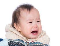 Pleurer de bébé de l'Asie photos stock