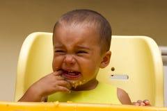 Pleurer de bébé garçon Photos stock