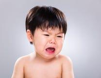 Pleurer de bébé garçon Images libres de droits