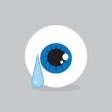 Pleurer de globe oculaire Photographie stock libre de droits