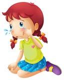 Pleurer de jeune dame Image stock