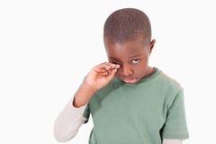 Pleurer de petit garçon photo libre de droits