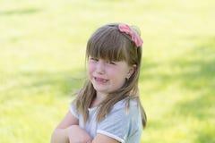 Pleurer de petite fille Image libre de droits