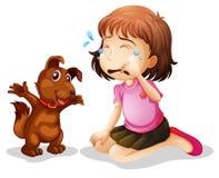 Pleurer de petite fille illustration libre de droits