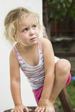 Pleurer de petite fille Images stock