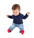 Pleurer gentil de bébé d'isolement photos stock