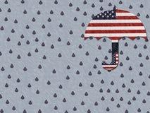 Pleurer pour l'Amérique défaillante Image libre de droits
