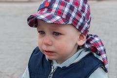 Pleurer triste d'enfant Photographie stock libre de droits