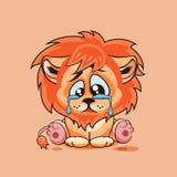 Pleurer triste de petit animal de lion Photos stock