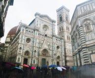 Pleuvant à Florence, l'Italie Images stock