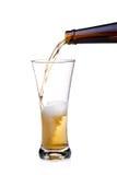 pleuvoir à torrents en verre de bière Photographie stock libre de droits
