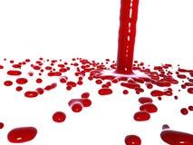 Pleuvoir à torrents rouge de liquide illustration de vecteur