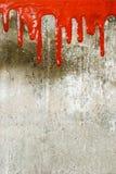 Pleuvoir à torrents rouge de peinture Photographie stock