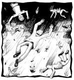 Pleuvoir des gens Illustration de Vecteur