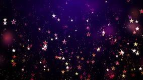 Pleuvoir des étoiles de ciel banque de vidéos
