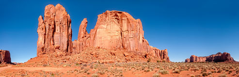 Pleuvoir Dieu Mesa Panorama avec le MESA de fer de lance à l'arrière-plan Photos libres de droits